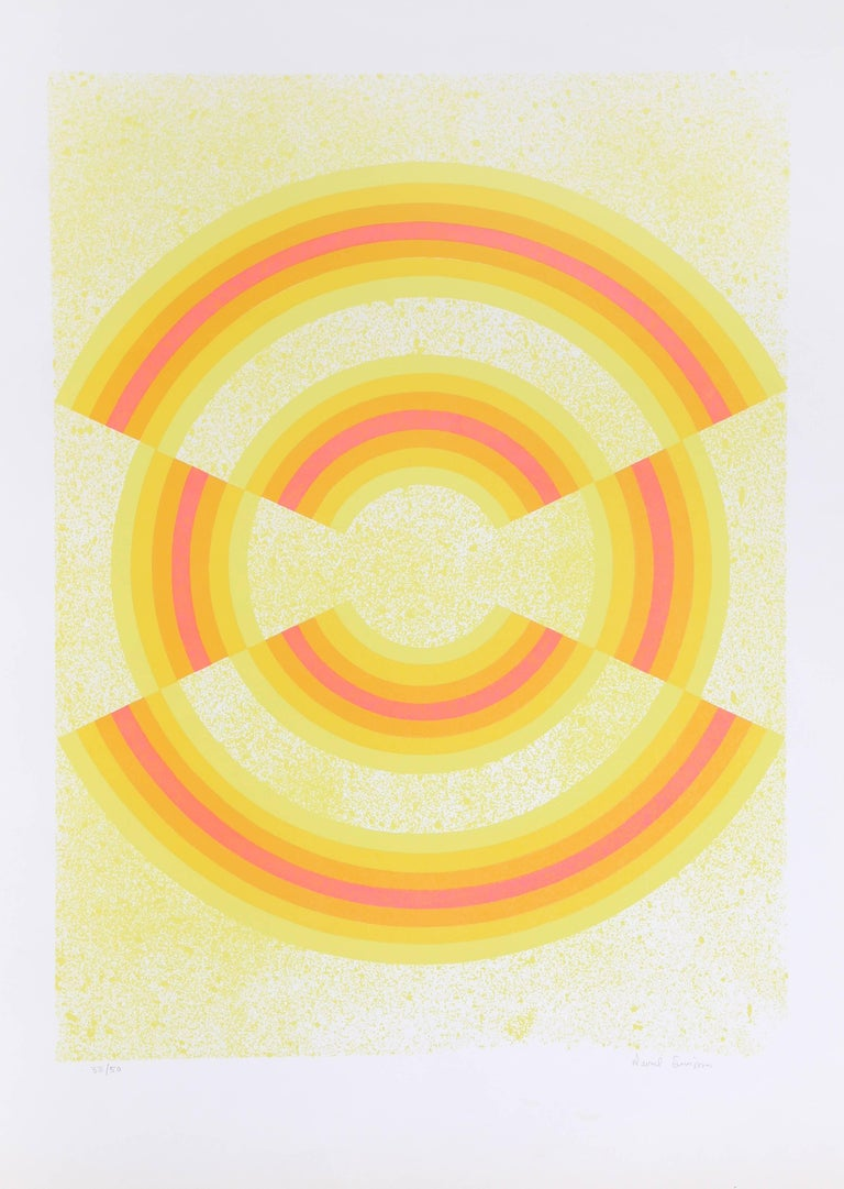Artist: David Simpson (American, b. 1928) Title: Ovograph Year: c. 1969 Medium: Serigraph, signed and numbered in pencil Edition: 50  Image Size: 29.5 x 22 inches Size: 40  x 27 in. (101.6  x 68.58 cm)