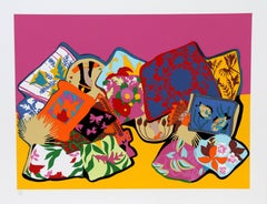 Pillow Painting, Serigraph by Hunt Slonem 1980