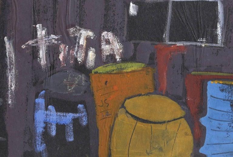 Provincetown Dock, Gouache Painting by Joseph Solman 1962 For Sale 2