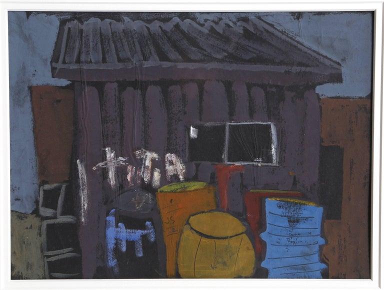 Provincetown Dock, Gouache Painting by Joseph Solman 1962 For Sale 1