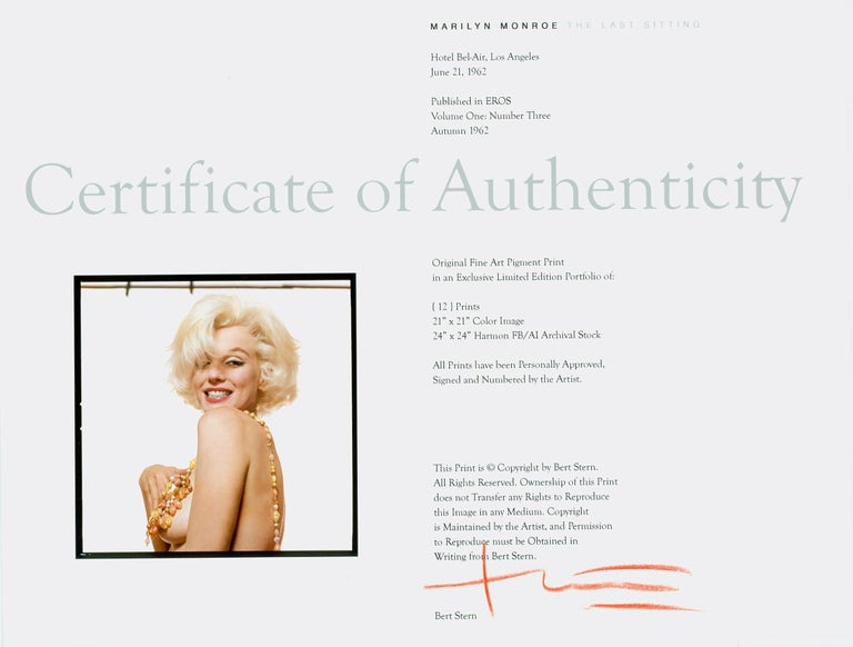 Marilyn Monroe -The Last Sitting For Sale 3