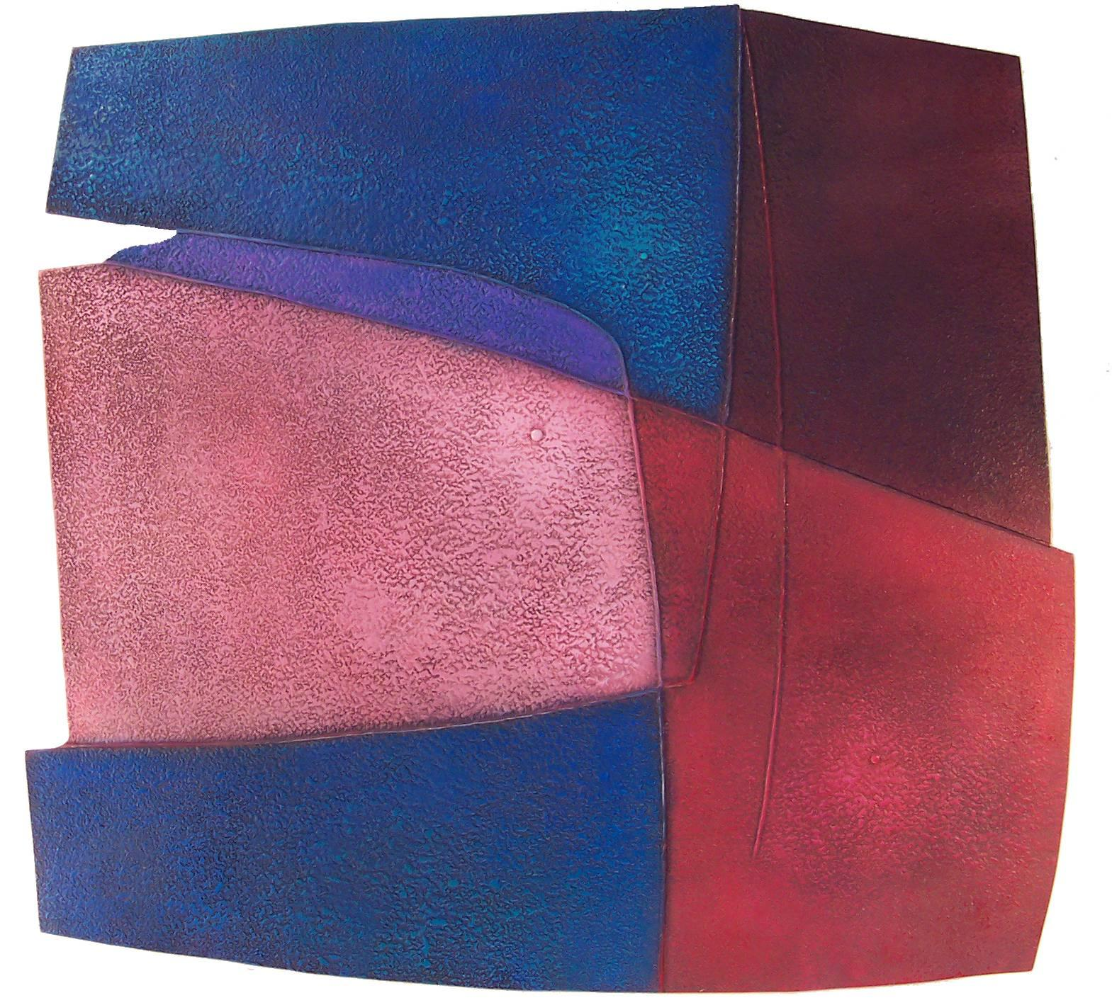 Abstract Oil on Masonite by Warren Wolf