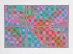 Sixes, Geometric Abstract Silkscreen by Tony Bechara