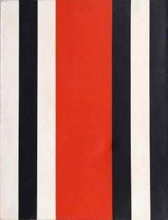 Stripes, Abstract Painting by Warner Friedman circa 1965