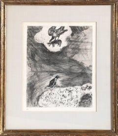 Le Corbeau Voulant Imiter l'Aigle, Etching by Marc Chagall 1952