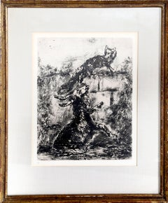 The Fox and the Ram, Etching by Marc Chagall 1952