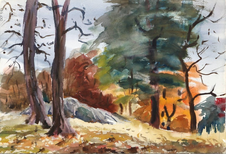 Maine, Watercolor Landscape by Eve Nethercott