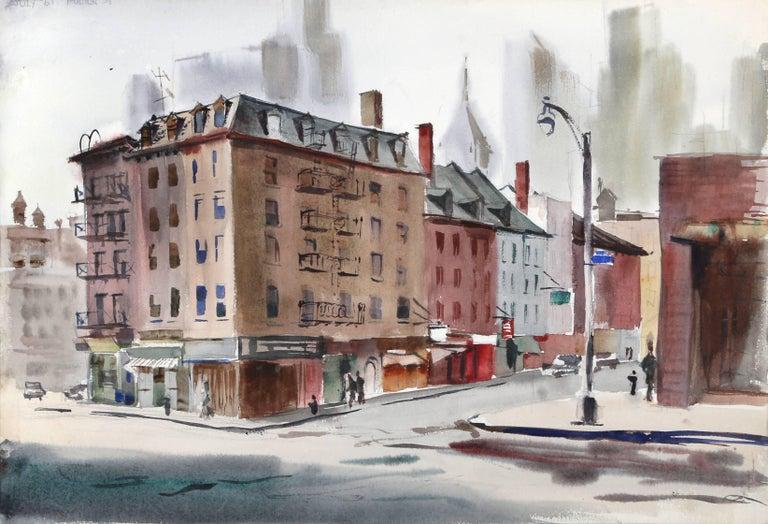 Fulton Street, Watercolor by Eve Nethercott