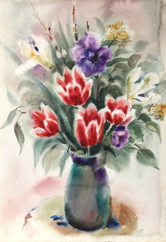Flowers, Watercolor by Eve Nethercott
