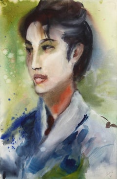 Portrait, Watercolor by Eve Nethercott