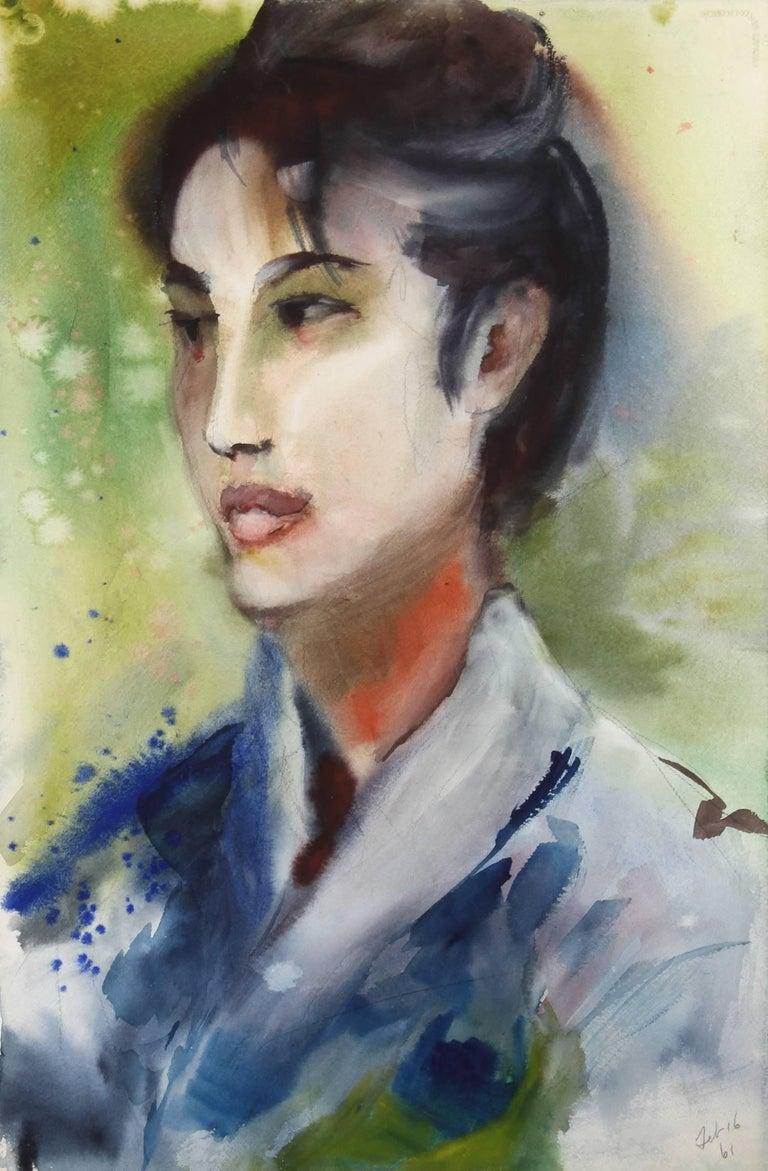 Portrait, Watercolor by Eve Nethercott