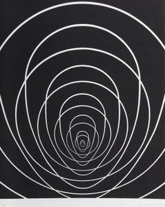 """Concentric Space (White)"", Silkscreen by Clarence Holbrook Carter"