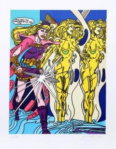 """""""Swordslady"""", Pop Art Print by Erró"""
