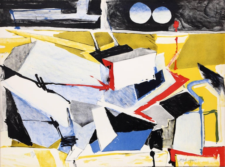 White and Yellow Abstract Print by Jasha Green