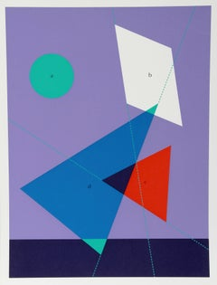 """""""Shapes in Motion"""" Geometric Serigraph by Kyohei Inukai"""