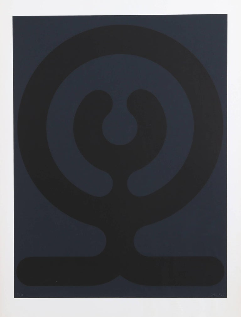 """Egg (Black)"" Geometric Silkscreen by Kyohei Inukai"