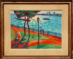 """Hudson River Promenade"" Oil Painting by Kyohei Inukai (aka Earle Goodenow)"