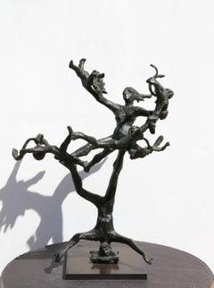 """Acrobats"", Bronze Scultpure, 1968"