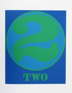 """""""Number 2"""", Serigraph from the American Dream Portfolio by Robert Indiana"""