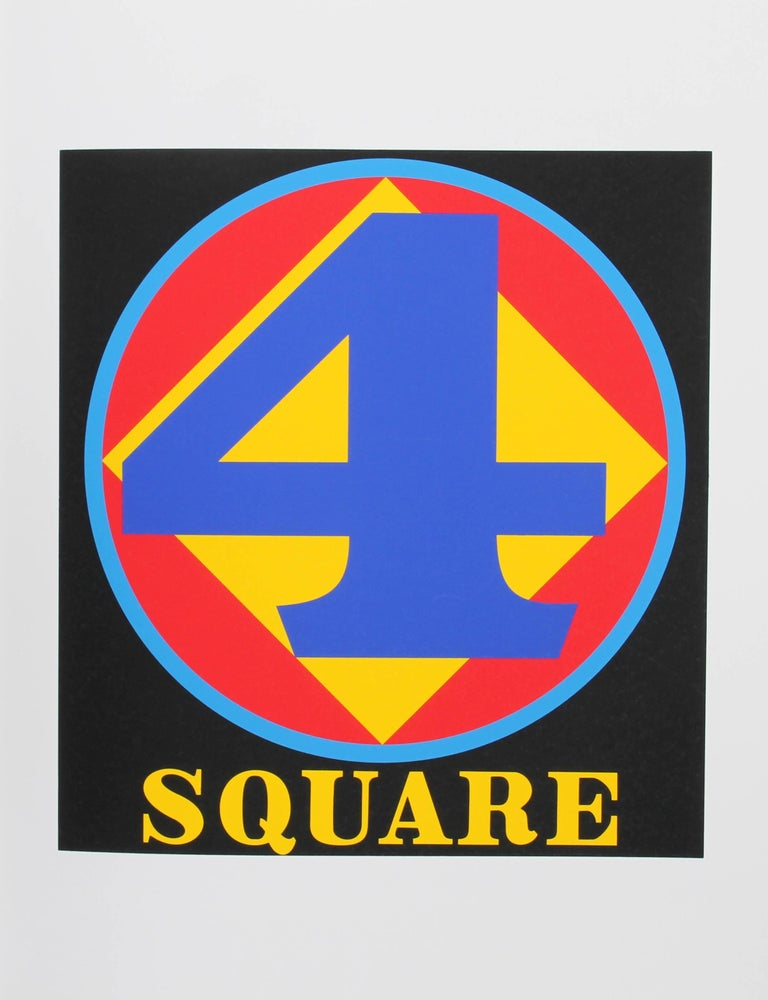 """""""Four Square"""", Serigraph from the American Dream Portfolio by Robert Indiana"""