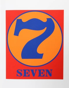 """""""Number 7"""", Serigraph from the American Dream Portfolio by Robert Indiana"""