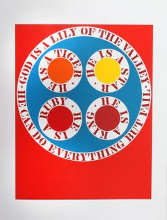 """""""God is Lily of the Valley"""", from the American Dream Portfolio by Robert Indiana"""