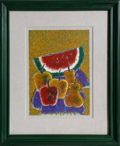 """Frutas"", Framed Acrylic Painting"