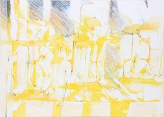 Yellow Abstract Watercolor Painting by Dimitri Petrov