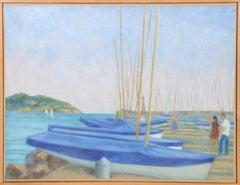 Les Lecques, Seascape and Boats, Laurent Marcel Salinas