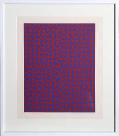 GR I, Eclat Pattern, Framed Silkscreen by Anni Albers