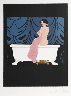 Bather, Signed Lithograph by Rene Gruau