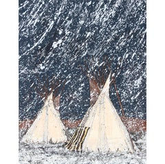 First Snow, Signed Serigraph by Kevin Red Star
