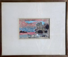 Israel, Signed 1950's Gouache Painting by Alexandre Sacha Garbell