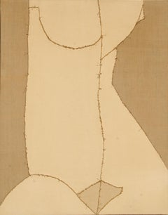 """Nude"", 1974, Sewn Canvas by Lou Fink"