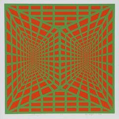 """""""Stereopsis I"""", 1973, OP Art Silkscreen by Roy Ahlgren"""