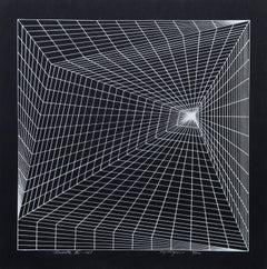 """Lineate II"", 1969, Silkscreen by Roy Ahlgren"