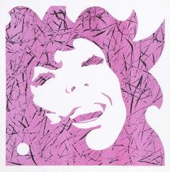 """Eve (Pink/Black)"", Pop Art Serigraph by Roy Ahlgren 1974"