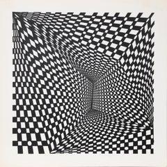 """Concave Triad I"", 1970, Silkscreen by Roy Ahlgren"