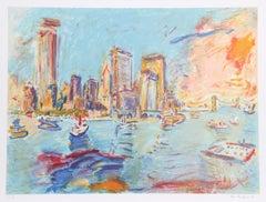 """View of Manhattan from Governor's Island"", circa 1980, Wayne Ensrud"