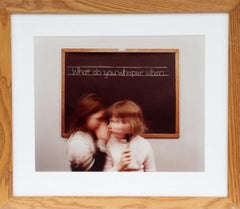 """""""What Do You Whisper"""", 1982, Color Photograph by Anne Turyn"""