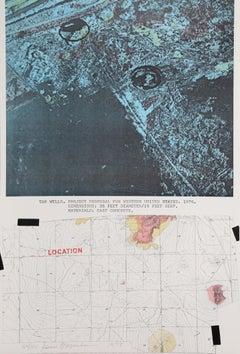 """Tar Wells"", 1978, Lithograph by Dennis Oppenheim"