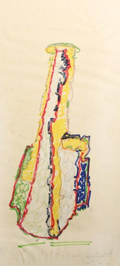 """Yellow Coconut"", 1981, Drawing by John Chamberlain"