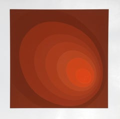 Red Ombre Circle by Leonid