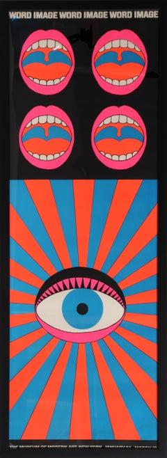 Word Image, Framed Screenprint by Yokoo Tadanori, 1968