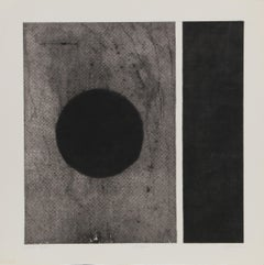 """Eclipse"" Minimalist Aquatint Etching by Robert Squieri"