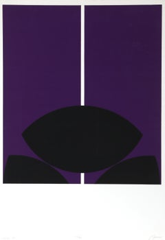 Tokyo, Purple Silkscreen by Robert Squeri