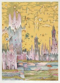London, 1973 Silkscreen by Risaburo Kimura