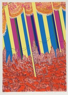 Madrid, 1973 Silkscreen by Risaburo Kimura