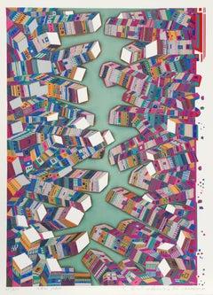 New York, 1973 Silkscreen by Risaburo Kimura