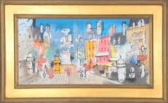 Paris Street Scene, Painting by Charles Cobelle